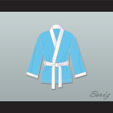 Clubber Lang South Side Slugger Light Blue Satin Half Boxing Robe