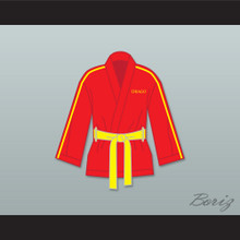 Ivan Drago Russia Red Satin Half Boxing Robe