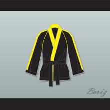 Rocky VI Black Satin Half Boxing Robe