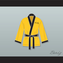Rocky Balboa Italian Stallion Yellow Satin Half Boxing Robe