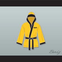 Rocky Italian Stallion Yellow Satin Half Boxing Robe with Hood