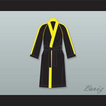 Rocky VI Black Satin Full Boxing Robe