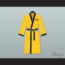 Rocky Italian Stallion Yellow Satin Full Boxing Robe