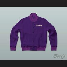 Purple Rain Prince Letterman Jacket-Style Sweatshirt