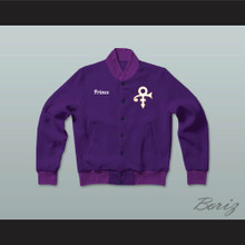 Prince Purple Rain Letterman Jacket-Style Sweatshirt
