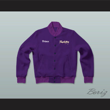 Prince Purple Rain Tribute Letterman Jacket-Style Sweatshirt