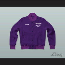 Prince Purple Rain World Tour '84-'85 Letterman Jacket-Style Sweatshirt