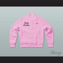 Grease Jan Pink Ladies Letterman Jacket-Style Sweatshirt