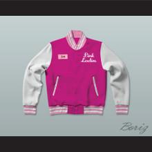 Jan Pink Ladies Letterman Jacket-Style Sweatshirt