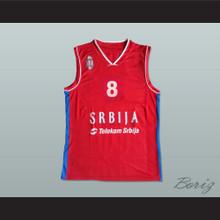 Nemanja Bjelica 8 Serbia Basketball Jersey Stitch Sewn