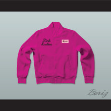 Betty Rizzo Pink Ladies Letterman Jacket-Style Sweatshirt Hot Pink