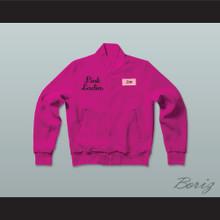 Jan Pink Ladies Letterman Jacket-Style Sweatshirt Hot Pink