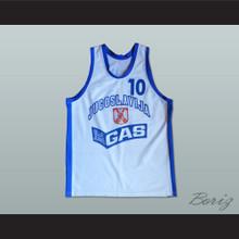Aleksandar Djordjevic 10 Yugoslavia Basketball Jersey Stitch Sewn