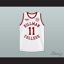 Walter Oakes 11 Hillman College White Basketball Jersey with Eagle Patch A Different World