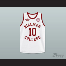 Ronald 'Ron' Johnson 10 Hillman College White Basketball Jersey with Eagle Patch A Different World