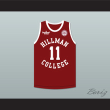 Coach Walter Oakes 11 Hillman College Maroon Basketball Jersey with Eagle Patch A Different World