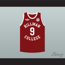Dwayne Wayne 9 Hillman College Maroon Basketball Jersey with Eagle Patch A Different World