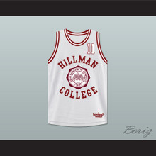 Walter Oakes 11 Hillman College White Basketball Jersey Deluxe A Different World