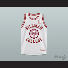 Walter Oakes 11 Hillman College Theater White Basketball Jersey A Different World