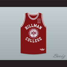 Walter Oakes 11 Hillman College Theater Maroon Basketball Jersey A Different World
