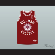 Dwayne Wayne 9 Hillman College Theater Maroon Basketball Jersey  A Different World