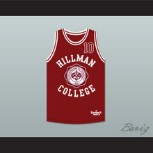 Ronald 'Ron' Johnson 10 Hillman College Theater Maroon Basketball Jersey A Different World
