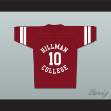 Ronald 'Ron' Johnson 10 Hillman College Maroon Football Jersey A Different World