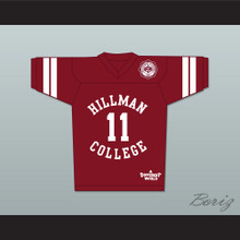 Walter Oakes 11 Hillman College Maroon Football Jersey with Theater Patch A Different World