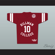 Ronald 'Ron' Johnson 10 Hillman College Maroon Football Jersey with Theater Patch A Different World