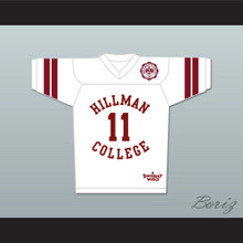 Walter Oakes 11 Hillman College White Football Jersey with Theater Patch A Different World