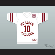 Ronald 'Ron' Johnson 10 Hillman College White Football Jersey with Theater Patch A Different World