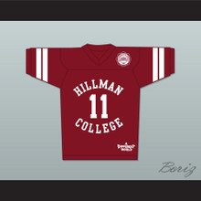Walter Oakes 11 Hillman College Maroon Football Jersey with Eagle Patch A Different World