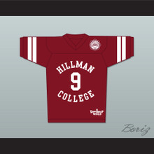 Dwayne Wayne 9 Hillman College Maroon Football Jersey with Eagle Patch A Different World