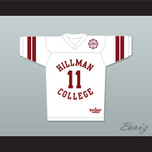 Walter Oakes 11 Hillman College White Football Jersey with Eagle Patch A Different World