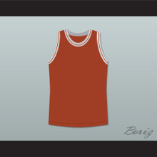 Philip Seymour Hoffman Sandy Lyle Along Came Polly Dark Orange Basketball Jersey