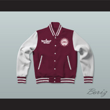 Hillman College Maroon Varsity Letterman Jacket-Style Sweatshirt A Different World