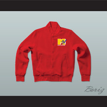 Music Television Red Letterman Jacket-Style Sweatshirt