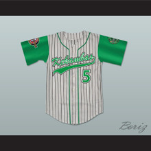 Raymond 'Ray Ray' Bennet 5 Kekambas Pinstriped Baseball Jersey with ARCHA and Duffy's Patches