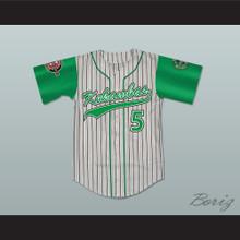 Raymond 'Ray Ray' Bennet 5 Kekambas Pinstriped Baseball Jersey with ARCHA and Duffy's Patches