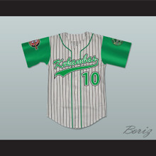 Jamal 10 Kekambas Pinstriped Baseball Jersey with ARCHA and Duffy's Patches