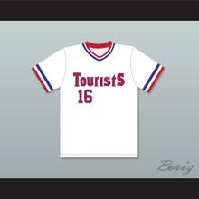 Crash Davis 16 Tourists Baseball Jersey Bull Durham