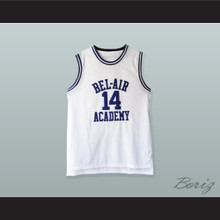 Will Smith 14 Bel-Air Academy White Basketball Jersey