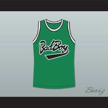 Notorious B.I.G. 97 Bad Boy Green Basketball Jersey New