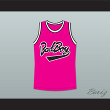 Notorious B.I.G. Biggie Smalls 72 Bad Boy Pink Basketball Jersey New