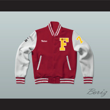Nutso High School Basketball Varsity Letterman Jacket-Style Sweatshirt Above The Rim