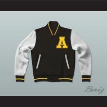 All The Right Moves Ampipe Bulldogs High School Football Varsity Letterman Jacket-Style Sweatshirt