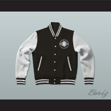 Bad Boy Entertainment Black Varsity Letterman Jacket-Style Sweatshirt