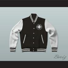 Bad Boy Entertainment Black Varsity Letterman Jacket-Style Sweatshirt