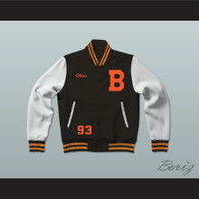 Chris Brown Black Varsity Letterman Jacket-Style Sweatshirt