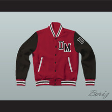 Dirty Money Red Varsity Letterman Jacket-Style Sweatshirt
